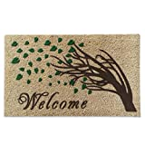 A1 Home Collections ''Welcome Tree 3D Effect and German Flocked Designer Doormat