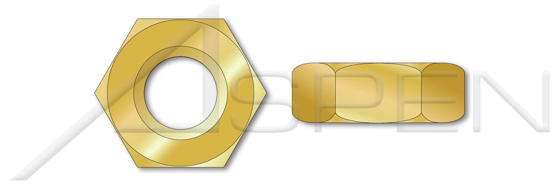 10 pcs Heavy Hex Jam Thin Nuts 3//8-16 Brass