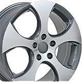 amazon com 1k0 601 025 ba fzz volkswagen gti 18 black machined detroit wheel automotive 1k0 601 025 ba fzz volkswagen gti 18