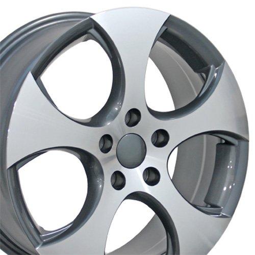 Wheel Rim Golf Vw (17x7 Wheel Fits Volkswagen - VW GTI Style Gunmetal Rim)
