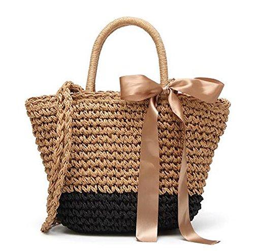 Daniel New Bali Circle Straw Bags For Women Handmade Round Beach Bag Summer Rattan Handbags Butterfly Women Messenger Bag Multi 24Cm Bali Straw Tote