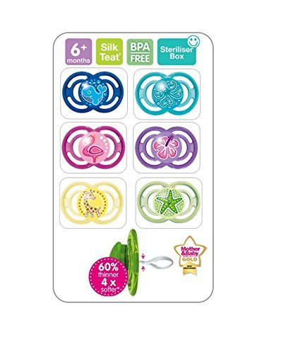 Amazon.com : Mam Perfect Soother One Dento-Flex 6+ Months ...