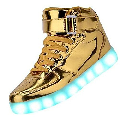 Men Women boy girl High Top USB LED Light Shoes Flashing Sneakers Kjgold40 (Adult High Top Sneakers)