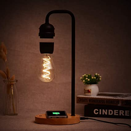 Leslaur Mesa LED Lámpara de luz magnética Bombilla Flotante ...