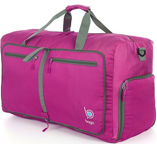 Bago Borsone Per Viaggio Bagaglio Palestra Sport Campeggio - Leggero e Pieghevole in se stessa. Borsone (Grande Taglia 27'', Rosa)