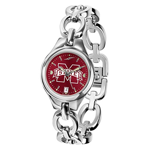 NCAA Mississippi State Bulldogs Ladies Stainless Steel Eclipse AnoChrome Watch (Steel Anochrome Watch)