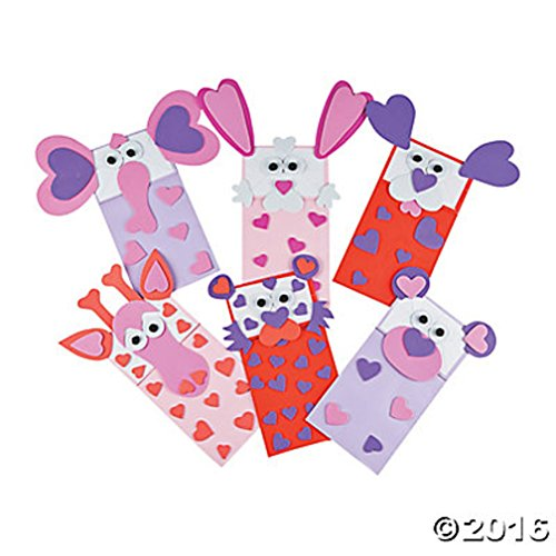 6 Valentine Puppet Animal Paper Bag Art and