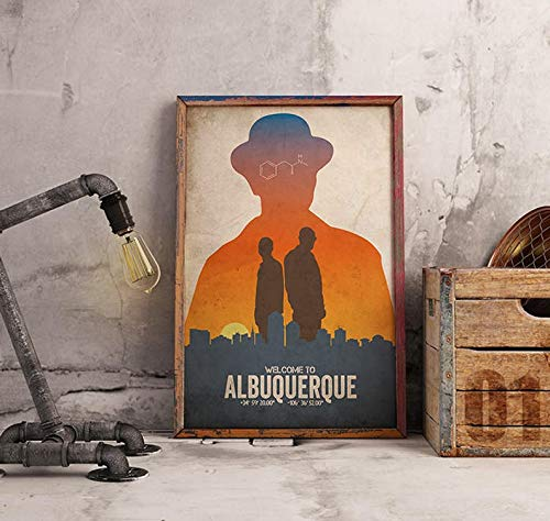MugKD LLC Breaking Bad Poster Alternative tv Show Poster Albuquerque Poster ABQ Walter White Jesse Pinkman Bryan Cranston Aaron Paul Saul Goodman [No Framed] Poster Home Art Wall Posters (24x36)]()