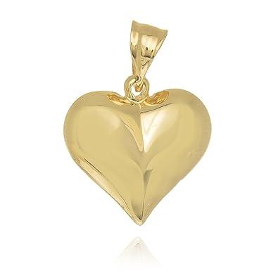 Amazon jewelstop 14k yellow gold puffed heart love charm jewelstop 14k yellow gold puffed heart love charm pendant aloadofball Gallery