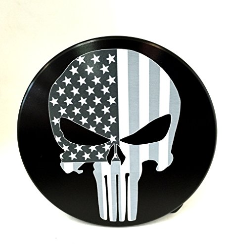 FLAG WITH PUNISHER SKULL TRAILER HITCH COVER ()