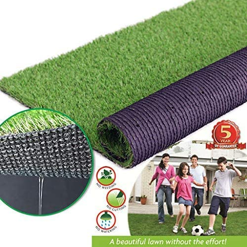 Realistic Artificial Grass Turf Lawn-1FTX25FT 1.38 Indoor Outdoor Garden Lawn Landscape Synthetic Grass Mat Fake Grass Rug