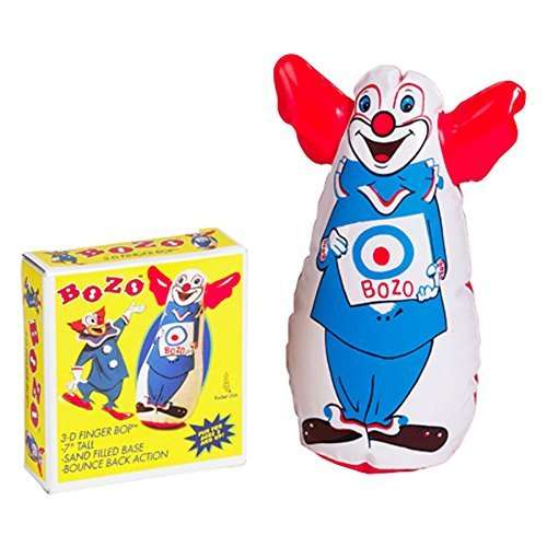 Original Bozo the Clown Bop Bag Inflatable Punching Toy 7