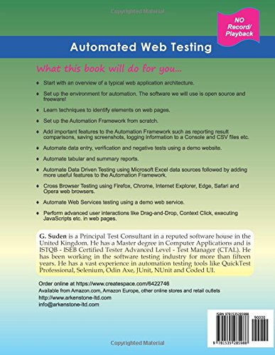 Automated Web Testing: Step by Step Automation Guide: Amazon
