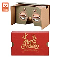 AUPALLA ™ Google Cardboard v2 Christmas Version 3D Virtual Reality Glasses Best Christmas Gift Support Pokémon GO in Future