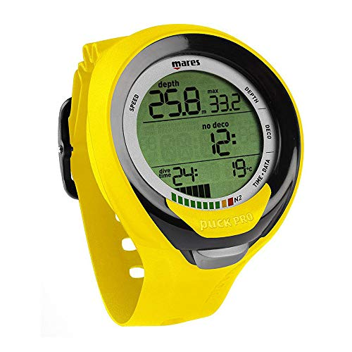 (Mares Puck Pro+ Scuba Diving Wrist Computer, Yellow/Black)