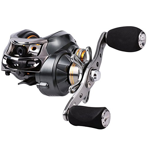 - Sougayilang Baitcasting Reel, 11+1 Stainless Steel Bearings, 18LB Super Drag, Magnetic Brake System Fishing Reel for Bass, Crappies, Perch, Trout, Walleyes Fishing (Left Hand)