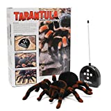 MECO Remote Control Spider Toy Infrared RC Realistic Light-up Eye Spider Tarantula
