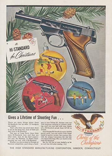 - Give a lifetime of shooting fun - Hi-Standard Sport-King .22 Pistol ad 1956 SA
