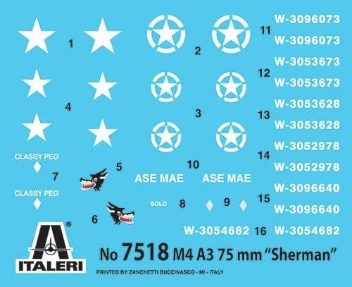 Italeri 1//72nd WW2 U.S Sherman M4 A3 Tanks Fast Build Model Kit 2 Pk 7518 NEW!