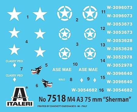 Sherman M4 A3 Tanks Fast Build Model Kit 2 Pk 7518 NEW! Italeri 1//72nd WW2 U.S