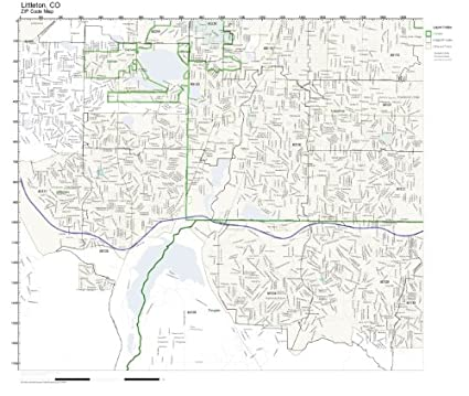 Amazon Com Littleton Co Zip Code Map Not Laminated Home Kitchen