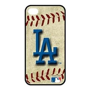 Black MLB Los Angeles Dodgers Baseball iPhone 5c Case TPU MLB Dodgers iPhone 5c Cover HD Image Snap ON