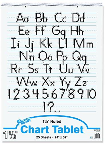 Becker's School Supplies Pacon Chart Tablet Packs, 24'' x 32'', 1½'' Ruling, (Set of 4) by Becker's School Supplies (Image #1)