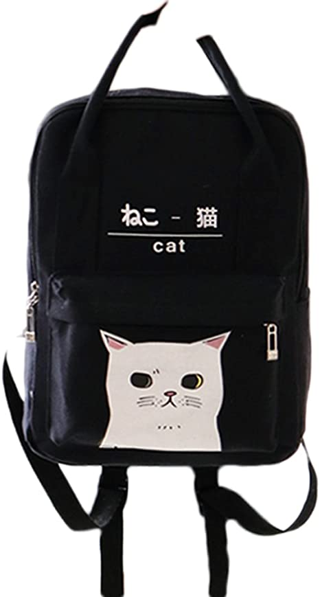 Navy Korea Fashion Line T Backpack Bag School Business Travel Sport Couple