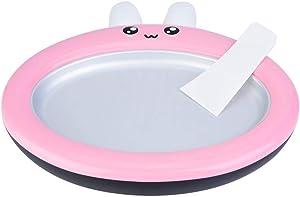 Fry Ice Machine, Mini Round Stir Yogurt Machine Cute Rabbit Fried Ice Tray Ice Cream Pan Homemade Ice Cream Maker for Kids(Pink)