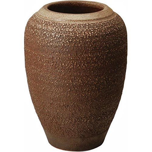 信楽焼 しがらき物語 窯肌松皮富士口花瓶18号(全高56.5cm×全幅41cm) B075MWTZ3V