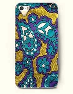 SevenArc Apple iPhone 4 4S Case Paisley Pattern ( Beautiful Dark Turquoise Paisley Flower )