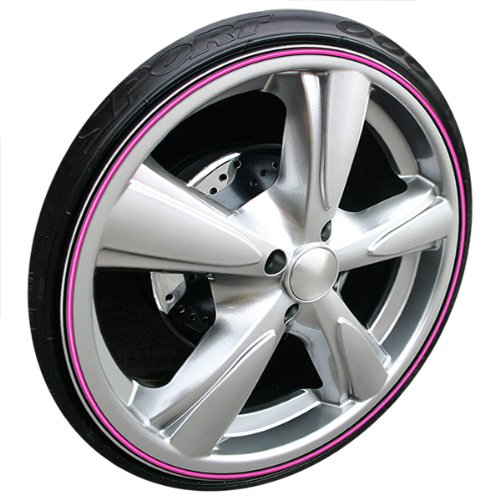 Wheel Bands Rim Protector - Pink W/ Black Track by Wheel Bands (Image #2)