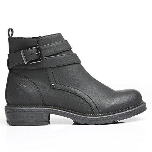 LiKing 16-001 Damen Chelsea Boots Modell 2 - Schwarz ...