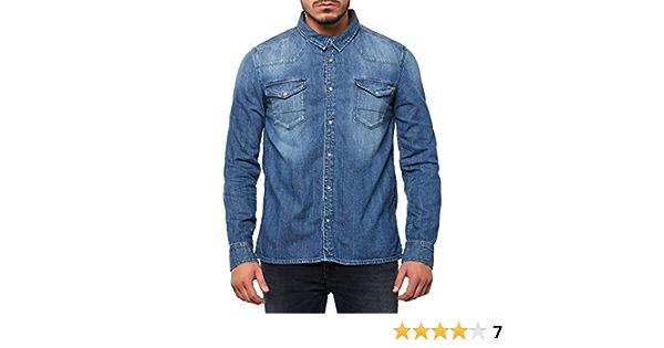 Tommy Hilfiger Gratton Shirt MONM Camisa, Azul (Montreal Mid ...