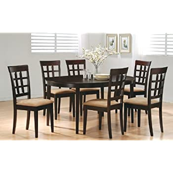 7 Piece Dining Set In Rich Cappuccino