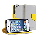 5c case classic - iPhone 5S Case, GMYLE Wallet Case Classic for iPhone 5C 5 5S - Silver Grey & Orange Cross Pattern PU Leather Slim Magnetic Flip Stand Cover