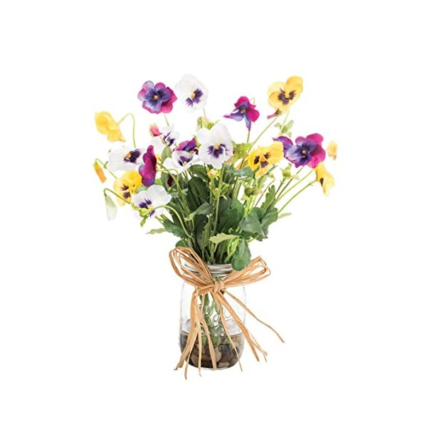 Pansy Pastime Silk Flower Arrangement