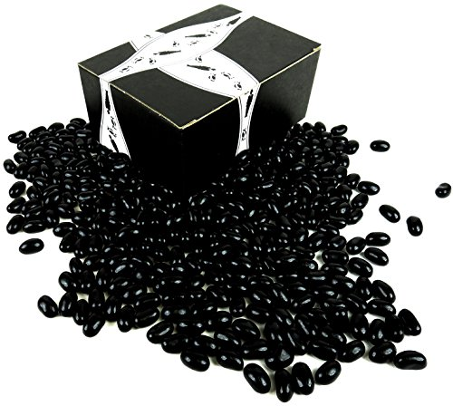 Gourmet Black Licorice Jelly Beans by Cuckoo Luckoo Confections, 2 lb Bag in a BlackTie Box - Beans Licorice