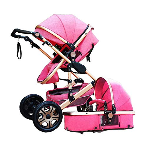 Baby Stroller 3 in 1 High Landscape Pram Foldable Pushchair