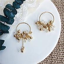elegant single d version luxury crystal beads light round shiny earrings earrings asymmetric models