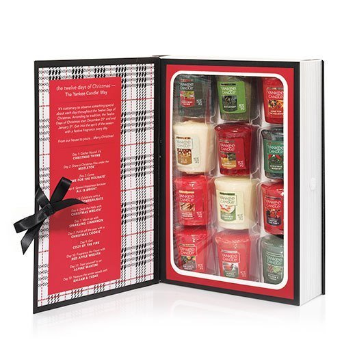 Yankee Candle 12 Days of Christmas Samplers Votive Book Gift - Days 12 Christmas Of Gift