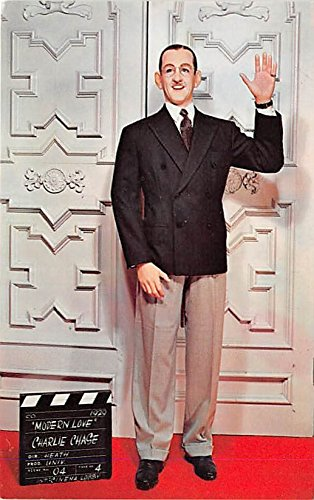 Theater Actor / Actress Old Vintage Antique Postcard Post Card, Postales, Postkaarten, Kartpostal, Cartes, Postkarte, Ansichtskarte Charley Chase in Modern Love, Movieland Wax Museum Buena Park, California, CA, USA Unused
