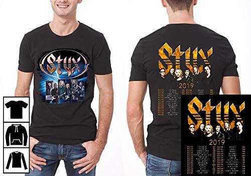 Men's Styx Concert US Tour 2019 Vintage T-Shirt Long T-Shirt Sweatshirt Hoodie (The Best Of Styx 2019)