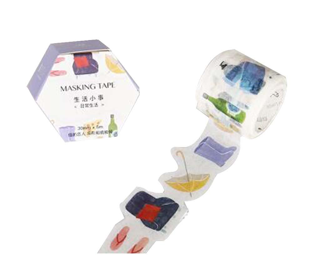 2 Pcs Paper Tape Creative Diary Decorative Tape Notebook Sticker Label #8