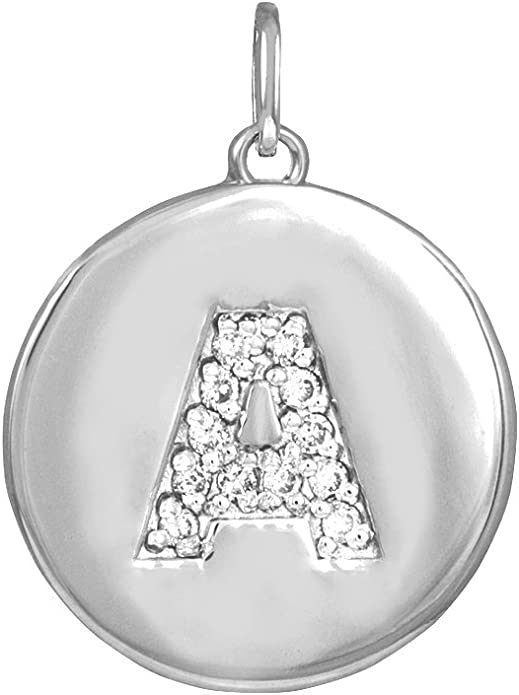 Initial A10kt yellow and white gold charm