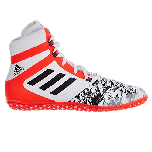 Adidas Flying Impact Ring Schuh – weiß/rot/Boxen/Wrestling, 10
