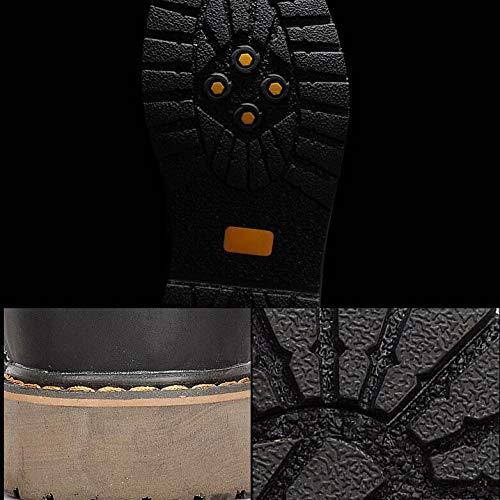 Alta Stivaletti Casual da Stringati Black Militari Ad Vintage Pelle in Martellata Desertici Stivaletti Uomo Schiumarola Stivali Vera Stivaletti xXFrxa