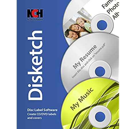 Amazon Com Disketch Cd Label Software For Windows Creates Labels And Covers For Cd Or Dvd Download Software