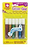 Creative Hands by Fibre-Craft  6-Piece .3 Ounces Washable Glitter Glue Fine Tip Pens in Red, Gold, Green, Silver, Blue, and Rainbow  Arts and Crafts  For Ages 3 and Up