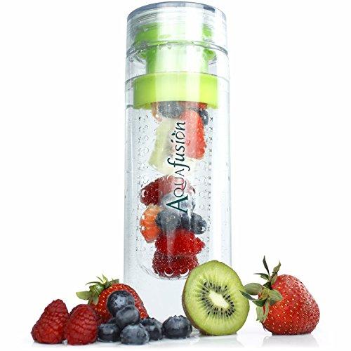 (AquaFusion Fruit Infuser Water Bottle - Eco-Friendly BPA-Free Tritan 24 Ounce Drinking Water Bottle - Best Infused Fruit Infusion Water Bottle)